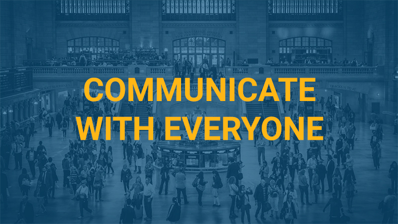 In Store Messaging Communicate with Everyone