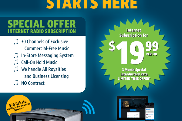 SiriusXM Music for Business Promo Discount