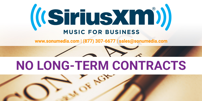 SiriusXM Overhead Music for Business No Long Term Contracts