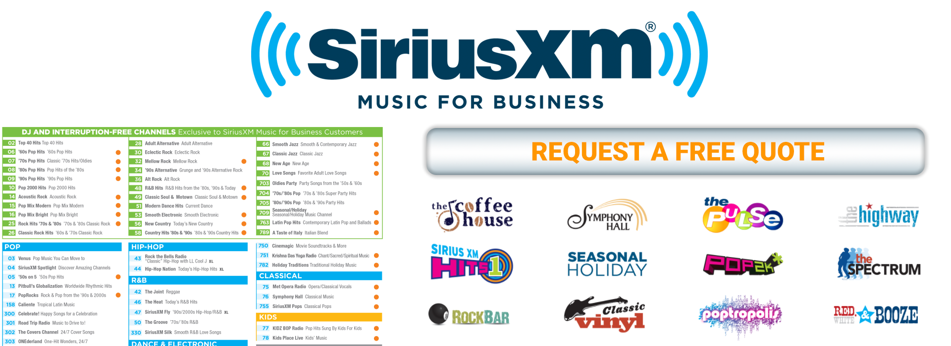 Free SiriusXM Music for Business Quote