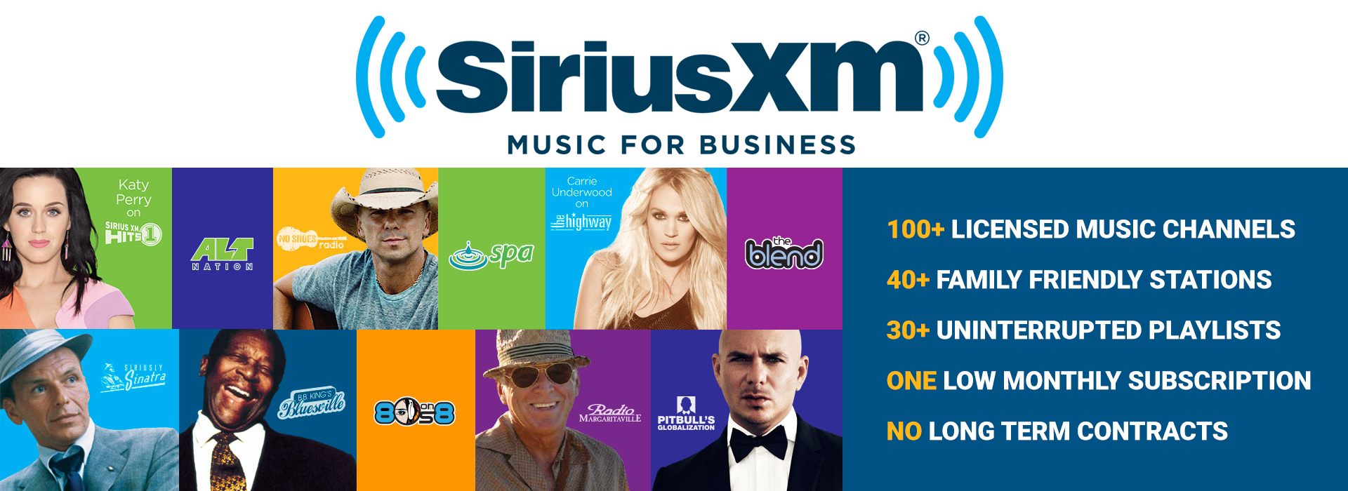 SiriusXM Music for Business Licensed Radio Stations