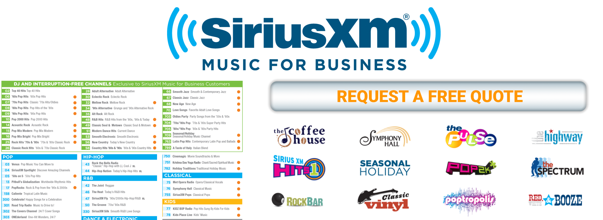 SiriusXM Music for Business | Sonu Media | (877) 307-6677