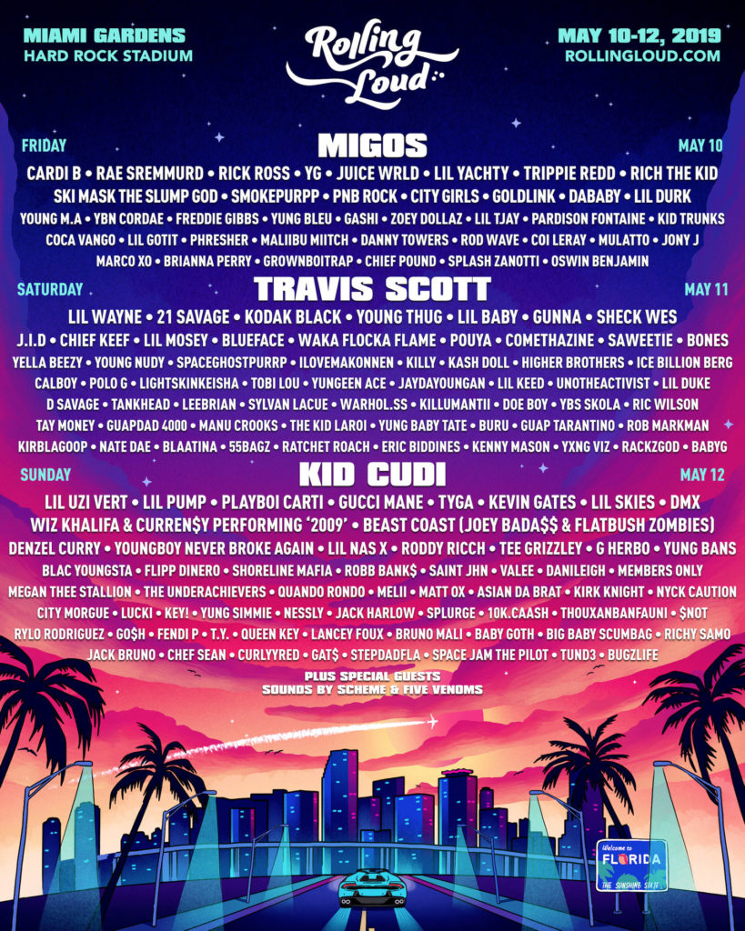 Rolling Loud Music Festival Miami 2019 Lineup