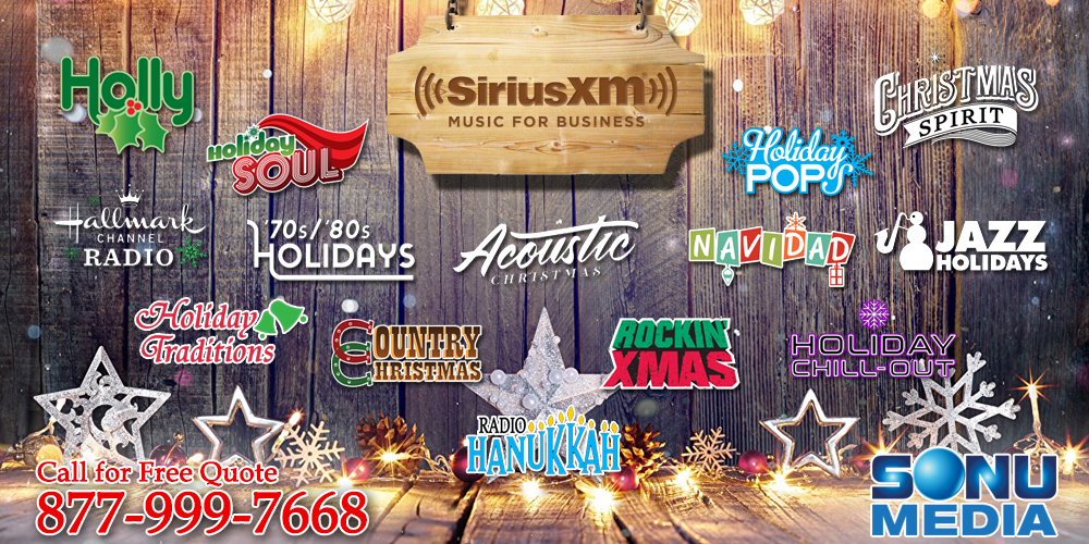 SiriusXM Holiday Channels 2019 | Holiday Business Music | 877 999 7668